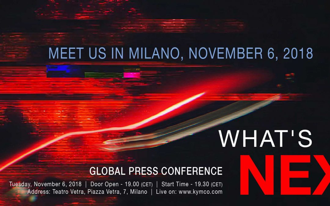 KYMCO Global Press Conference Meet us in Milano November 6 2018
